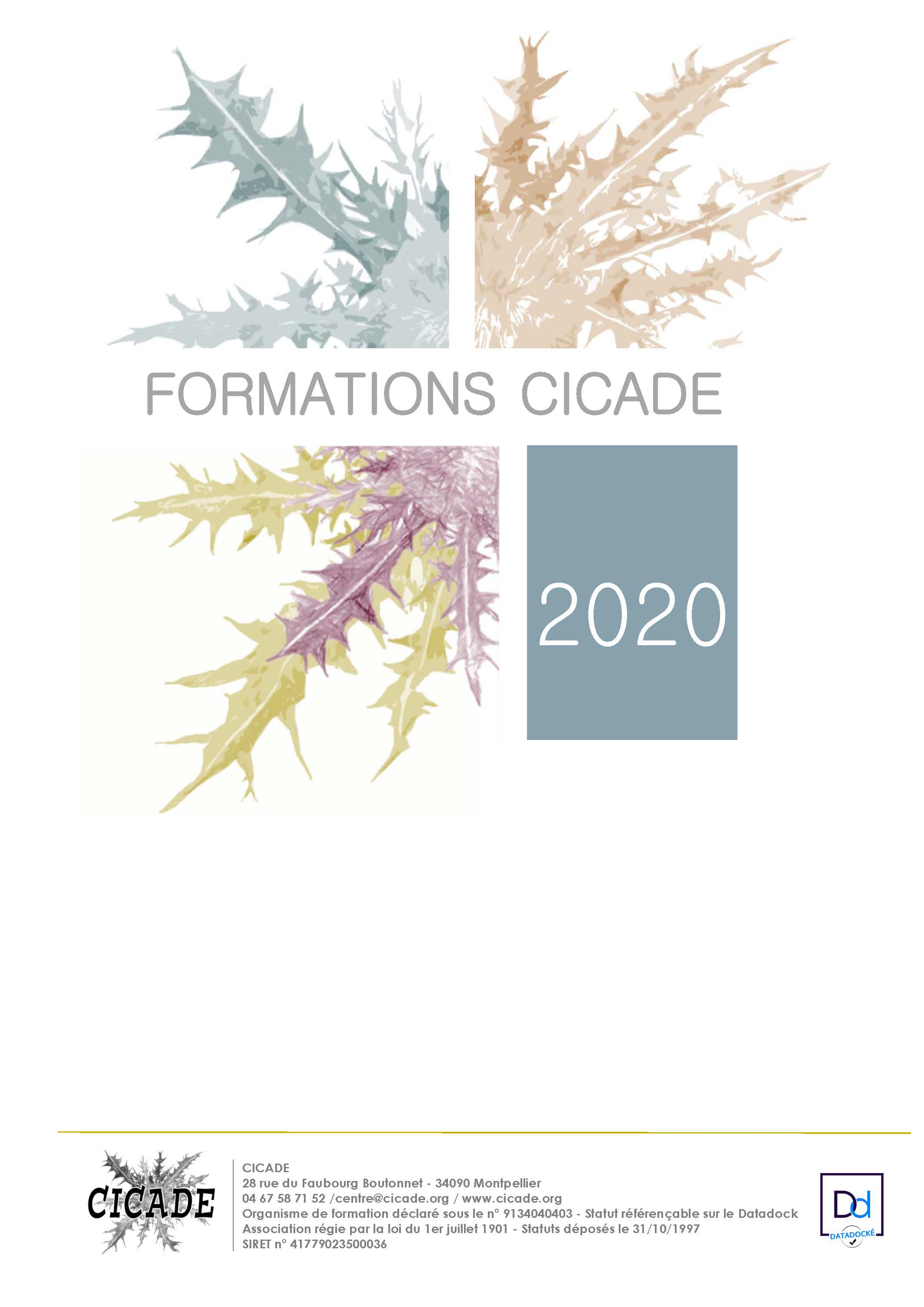 Catalogue CICADE 2020